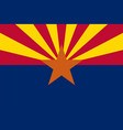 flag of the usa state of arizona vector image vector image