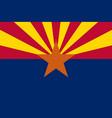 flag of the usa state of arizona vector image