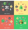 Flat Drugs Icon Set vector image