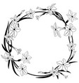 flowering tobacco frame vector image vector image