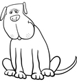 Funny big dog cartoon for coloring book vector image