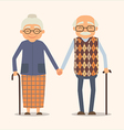 grandparents image happy couple in cartoon vector image