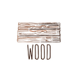 Hand drawn logo with wood desk vector image