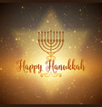 hanukkah background with menorah and vector image