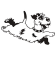 happy dog black white vector image vector image