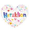 heraklion city in greece vector image vector image