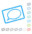hint cloud icon rubber watermark vector image vector image