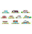 house cottages bungalow and villa buildings icons vector image vector image