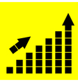 Icon growth chart vector image