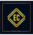 initial ec letter logo template design vector image