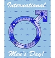 International men day background vector image vector image