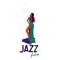 jazz singer jazz music party vector image