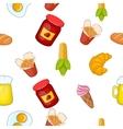Junk food pattern cartoon style vector image vector image