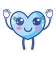 kawaii cute happy heart with arms and legs vector image vector image