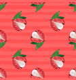 lychee fruit seamless pattern exotic fruit litchi vector image