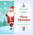 merry christmas card santa claus greeting cards vector image vector image