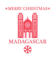 Merry Christmas Madagascar vector image vector image
