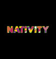 nativity concept word art vector image vector image