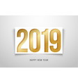 new year 2019 background paper style vector image vector image