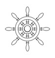 outline rudder ship object to marine navigation vector image