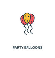 party balloons icon creative 2 colors design vector image vector image