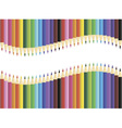 Pencils blank frame vector image vector image
