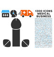 penis enhancement tablets icon with 1300 medical vector image vector image