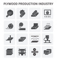 plywood production icon vector image