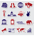politics red and blue simple stickers set eps10 vector image vector image