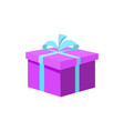purple gift box present wrapping isolated vector image vector image