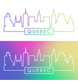 quebec skyline colorful linear style editable vector image vector image