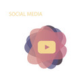 red button video player social media youtube eps vector image vector image