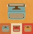 Retro Typewriter vector image vector image