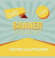 sale banner big sale banner template design sale vector image vector image