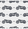 seamless pattern motorcycle silhouette vector image vector image