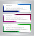 set of design banner template simple vector image vector image
