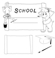 set of for a school vector image
