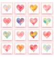 set of patchwork heart vector image