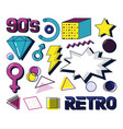 set of retro icons vector image vector image