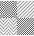set of seamless tile diagonal lines vector image vector image