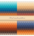 Set of seamless triangle patterns in warm colors vector image vector image