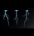 set realistic lightning vector image vector image