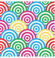 spiral and circles seamless pattern vector image vector image
