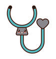 stethoscope medical tool kawaii cartoon vector image vector image