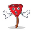 surprised plunger character cartoon style vector image vector image