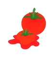 Tomato icon isometric 3d style vector image vector image