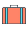 travel bag line icon simple minimal pictogram vector image vector image