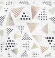 triangle seamless pattern with cloth effect vector image vector image