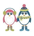 Two penguins in winter vector image vector image