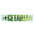 Vegetarian sign vector image